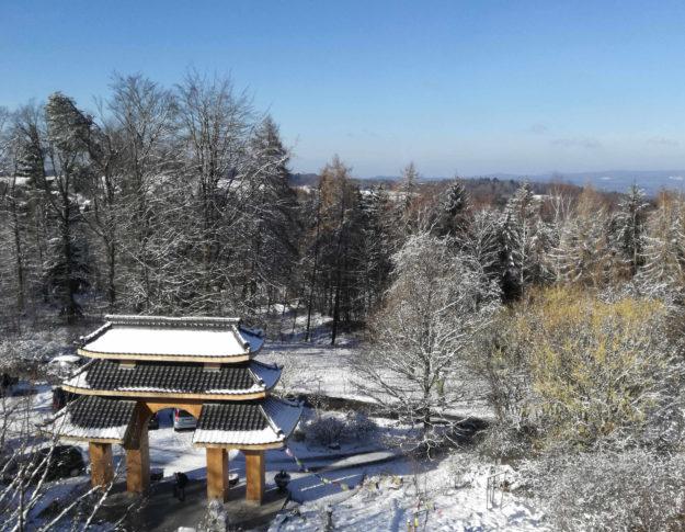 Aussicht vom Kloster Buddhas Weg